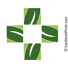 логотип, альтернатива, здоровье, забота