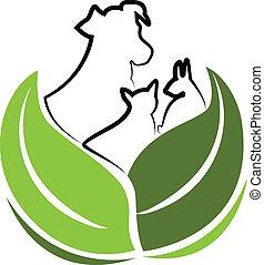 логотип, вектор, собака, кролик, кот