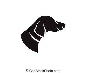 логотип, глава, animals, собака