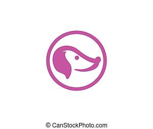 логотип, глава, vectors, собака