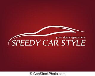 логотип, каллиграфический, автомобиль