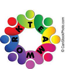 логотип, командная работа
