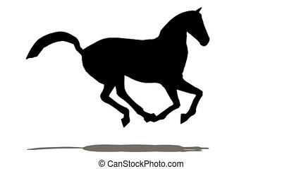 лошадь, силуэт