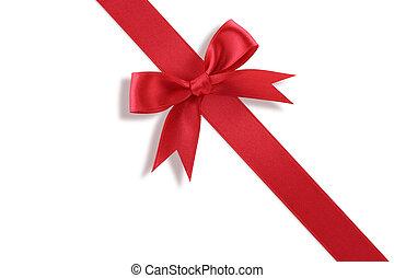 лук, диагональ, подарок, красный