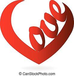 люблю, форма, слово, сердце