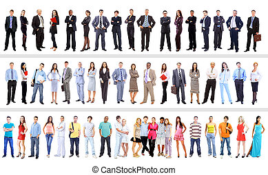 люди, бизнес, isolated, задавать, белый