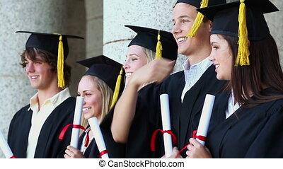 люди, выпускник, молодой