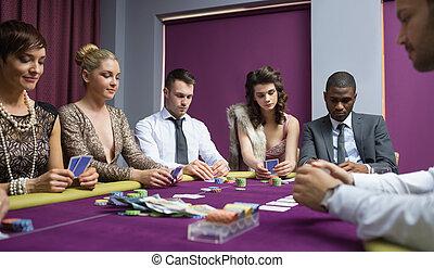 люди, в, , покер, таблица
