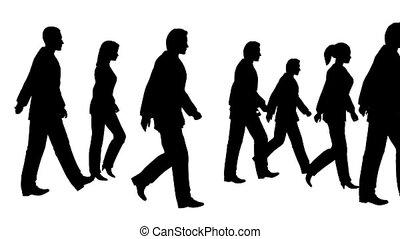 люди, гулять пешком