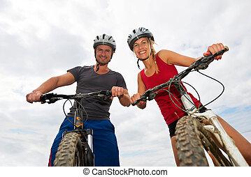 люди, на, bikes
