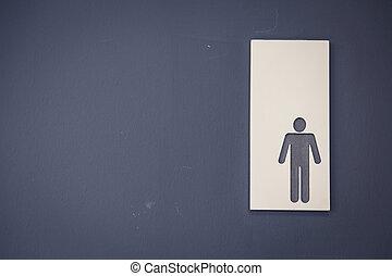 люди, туалет, знаки, (, отфильтрованный, образ, обработанный, марочный, effect., )