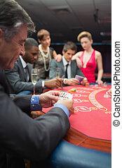 люди, playing, в, , покер, таблица