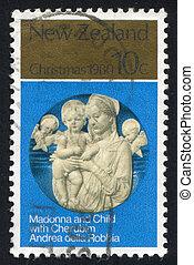 мадонна, with, ребенок