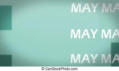 май, анимация