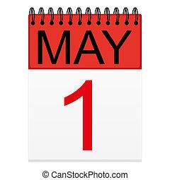май, 1, календарь