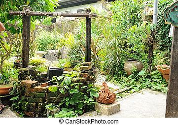 маленький, что ж, artesian, сад