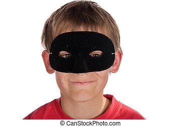 мальчик, носить, , маска