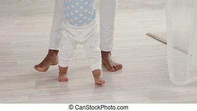 мальчик, пол, босиком, тепло, learning, ходить, детка, ...