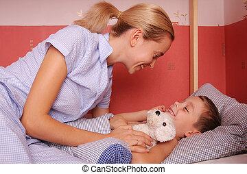 мама, сынок, постель, puts, 4