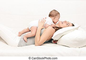 мама, with, детка