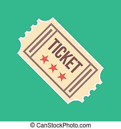 марочный, билет, вектор, значок