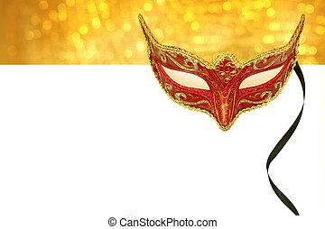 марочный, копия, маска, карнавал, пространство
