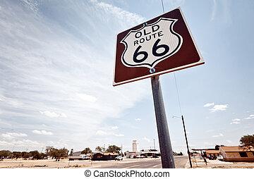 маршрут, 66, знак