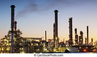 масло, очистительный завод, -, нефтехимический, промышленность