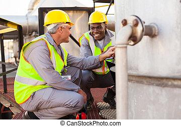 масло, химическая, промышленность, technicians