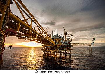 масло, and, газ, платформа