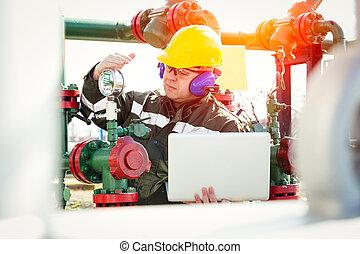 масло, and, газ, промышленность, работник