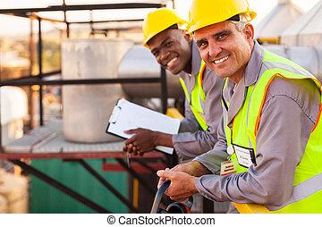 масло, and, химическая, промышленность, technicians