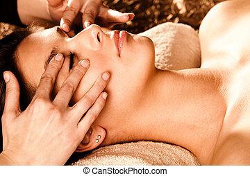 массаж, лицо