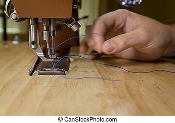 машина, threading, шитье, коммерческая