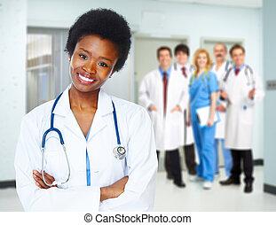 медицинская, забота, здоровье, woman., врач