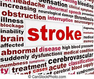 медицинская, инсульт, предупреждение, сообщение