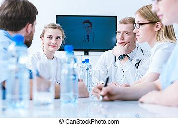 медицинская, конференция, видео