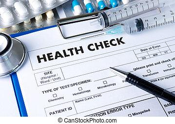 медицинская, лекарственное средство, интерфейс, проверить, здоровье, компьютер, за работой, врач