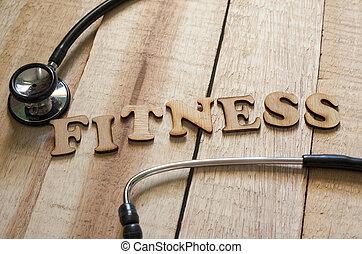 медицинская, and, здоровье, забота, концепция, фитнес