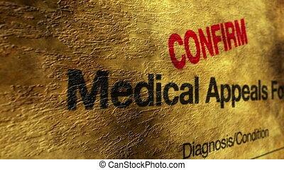 медицинская, appeals, подтвердить