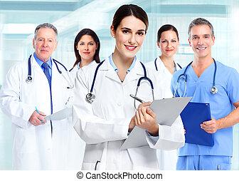 медицинская, woman., врач