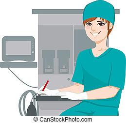 медсестра, мужской, documents, письмо