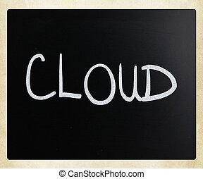 """мел, классная доска, белый, """"cloud"""", рукописный"""