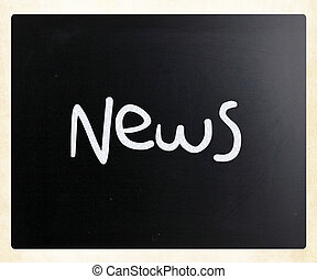 "мел, классная доска, белый, ""news"", рукописный"