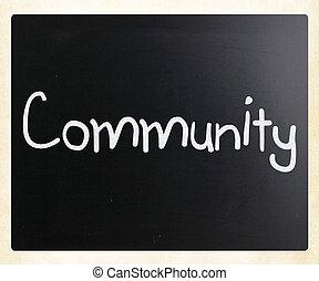 "мел, классная доска, ""community"", белый, рукописный"
