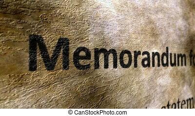 меморандум, концепция, гранж, форма