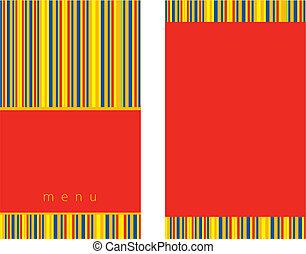 меню, дизайн, красный