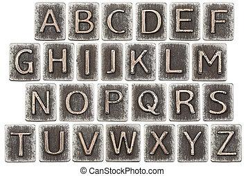 металл, буквы