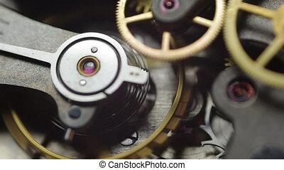 металл, внутри, cogwheels, clockwork.