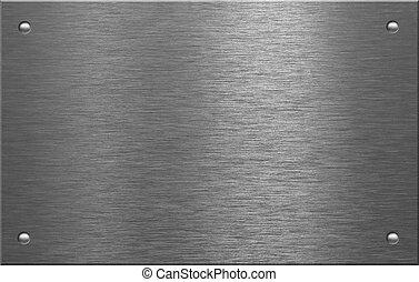 металл, пластина, with, 4, rivets